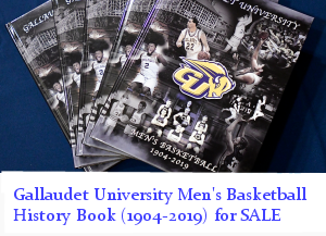 Gallaudet University Men's Basketball History Book (1904-2019) for Sale